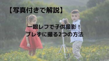 【写真付きで解説】一眼レフで子供撮影!ブレずに撮る2つの方法